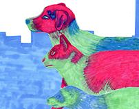 Man vs Rat Editorial Illustrations