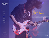 Steve Vai Website Redesign Concept