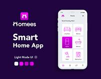 Homees Smart Home Mobile App UI/UX