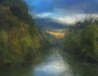 Digital painting - Tualatin River