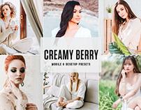 Free Creamy Berry Mobile & Desktop Lightroom Presets