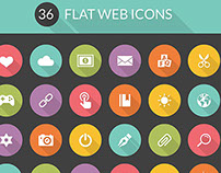 FREEBIE: 36 Flat Web Icons