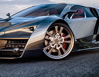 Audi R10 Concept car |realistic style