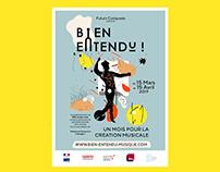 Bien Entendu Festival - Poster and identity