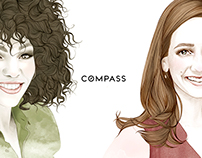 Illustrations for COMPASS Luxury Magazine New York.