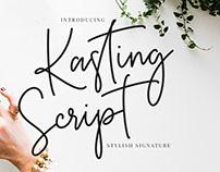 Free Kasting Script Signature Font