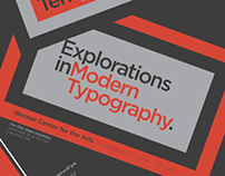 From The Backpack: Explorations in Modern Typography