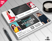 Discount Voucher Design Free PSD