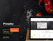 Przepisy - Website for Food Recipes