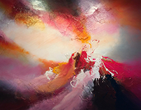 Large living abstract paintings 2016