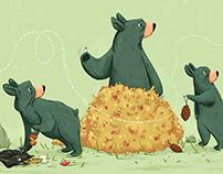 Hungry Bears See A Bee