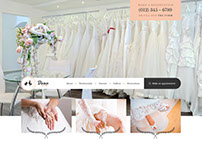 Dear Bride - One Page Wedding Salon PSD Template