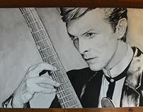 David Bowie watercolor portrait