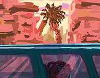 Car trip.