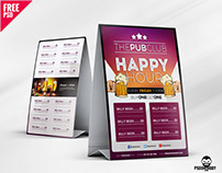Beer Cafe Tent Card Free PSD