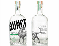 Hunch Whiskey Label Illustrated by Steven Noble