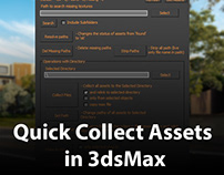 Quick collect assets in 3dsMax