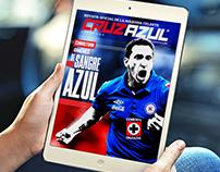 Concepto Gráfico para la revista digital Cruz Azul.