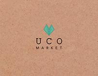 Identidad corporativa Uco market frutas y verduras.