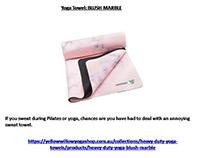 Yoga Towel BLUSH MARBLE