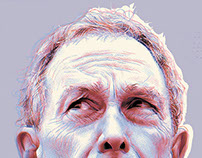 Mike Bloomberg - 2 portraits as 1. POLITICO MAG.