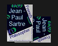Jean-Paul Sartre Poster