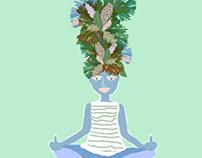 Yoga mantra attitude