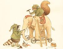A Woodland Christmas: Children's Illustration Set