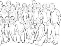ilustración foto grupal