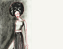 Charcoal Fashion Illustrations-Anil Nair