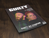 Mock magazine cover for Guilty Pleasures marketing