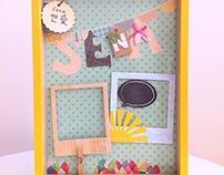 Baby girl wall photo frame - Sena