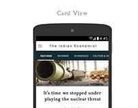 The Indian Economist: App UI