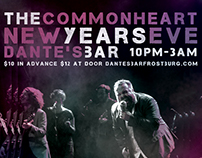 The Commonheart New Years Eve 2016 Gig Poster