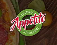Pizzeria Appetito Logo and Website