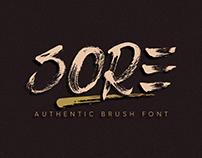 SORE | Authentic Brush Font