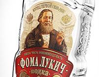 "Vodka ""Фома Лукич"". Label and bottle design."