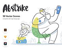 Abstrike illustrations Pack
