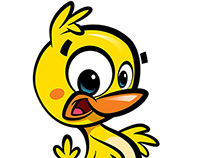 Cartoon cute baby duck :)