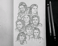 Game of Thrones // Pencil Sketches