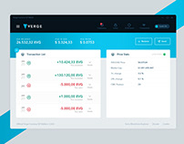 Verge Currency Electron Wallet UI