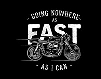 Going nowhere fast - Cafe racer graphic