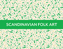 Scandinavian folk art-inspired pattern collection