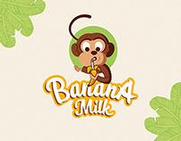 Banana Milk - Branding and Tetra Pak packaging