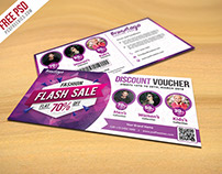 Freebie : Fashion Sale Discount Voucher Free PSD
