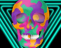 Neon Techno Skull
