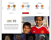 Manchester United site design