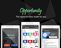 Opportunity: The Android app for seeking opportunities.
