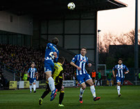 Burton Albion Vs Wigan Athletic 19/4/16 1-1