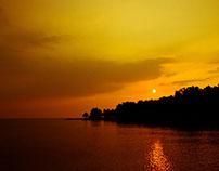 Carlita at sunset, Indonesia,